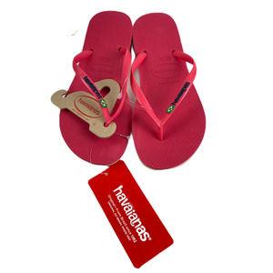 Havaianas Slim Flip Flop Sandal, Flamingo, 6